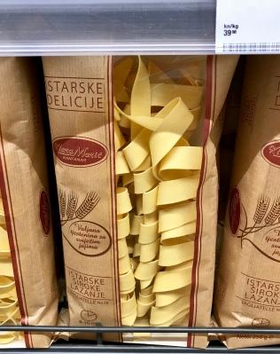 Croatian brand of pasta know as Starske Delicije. (photo by Carolyn Stewart)