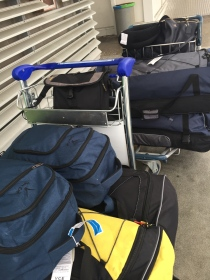 Two cartfuls of luggage!